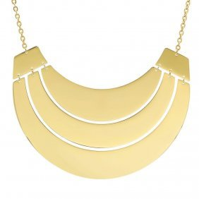 18 Karat Gold Plated Necklace Set On Stainless Steel