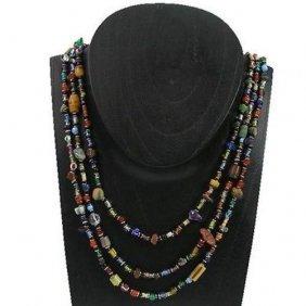 Multicolor 'success' Triple Strand Beaded Necklace - Za