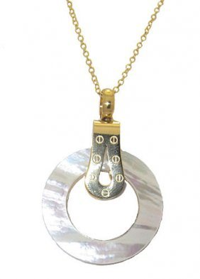 Stainless Steel Screw Pendant With Chain