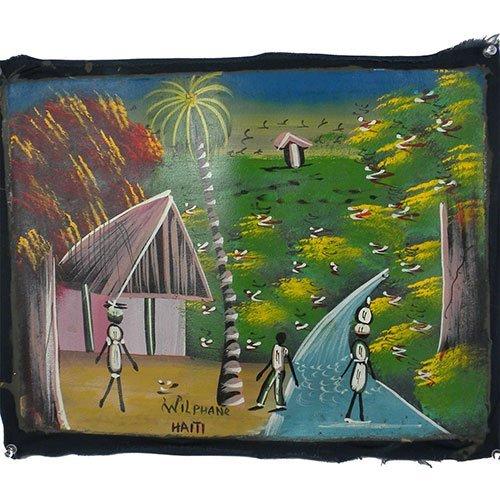 Haitian Acrylic Painting on Canvas - Haiti