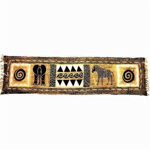 Horizontal Black and Natural Animal Batik - Tonga Texti