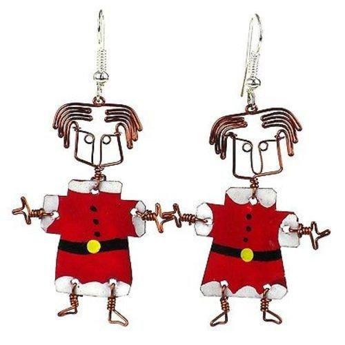 Dancing Girl Santa Earrings - Creative Alternatives
