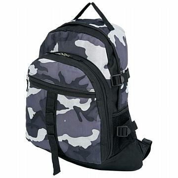 Extreme Pak Black and Gray Urban Camouflage Backpack