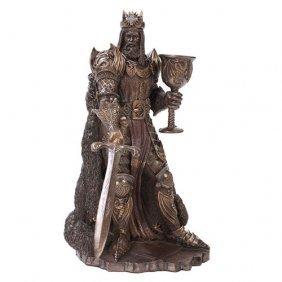 King Arthur Cold Cast Bronze Statue