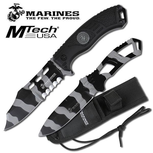 OFFICIALLY LICENSED USMC SET OF 2 FIXED BLADE KNIVES