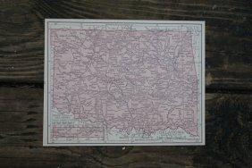 Genuine Authentic 1930 Map Of Oklahoma
