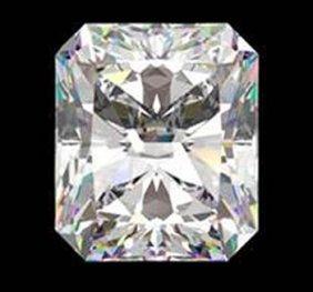 Gia Cert 0.76 Ctw Radiant Diamond F/vvs2