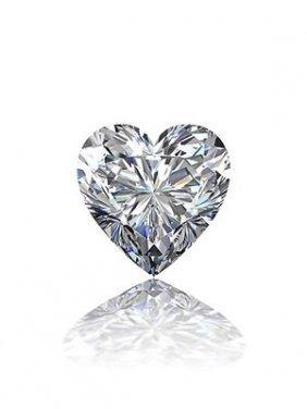 Gia Cert 0.58 Ctw Heart Diamond K/vs2