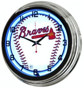 Mlb Atlanta Braves Neon Wall Clock