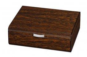 Visol Study Ironwood Finish Humidor - Holds 25 Cigars