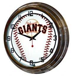Mlb San Francisco Giants Neon Wall Clock