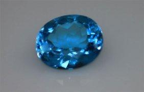 Genuine 4.60 Ctw Blue Topaz Oval 10x12