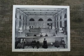 Genuine Vintage 1904 Nyc Railroad Station Lithograph
