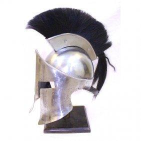 Spartan Full Size Helmet Replica W/black Plume Comes W/