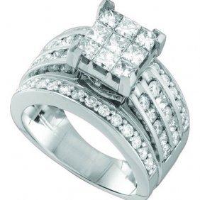 14kt White Gold 2.25ctw Princess Round Diamond Ladies R