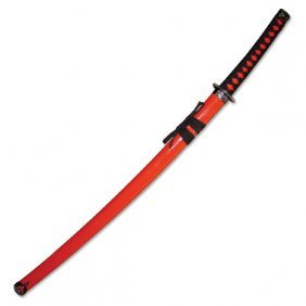 "Stainless Steel Samurai Sword 40"" Overall"