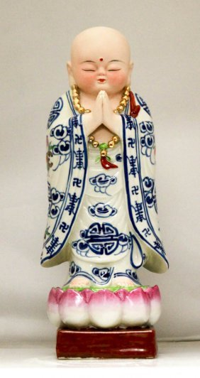 Praying Figurine Made From Porcelain