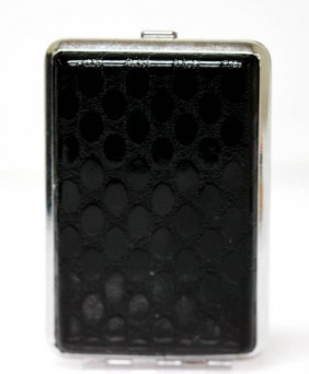 Black And Silver Cigarette Case