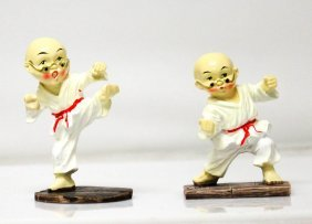 2 Fu Monks In White Robes