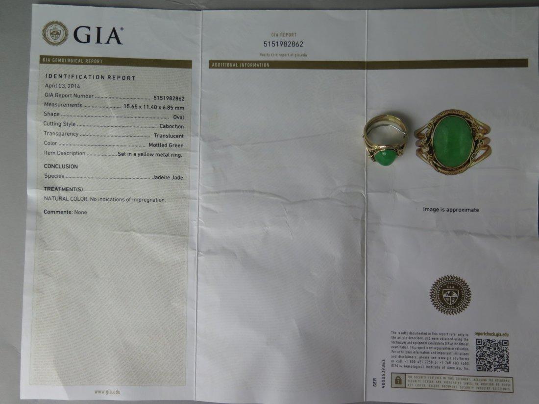 GIA Certified Jadeite Ring