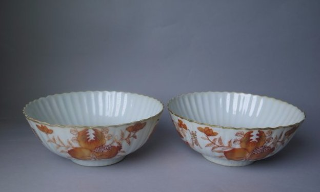 A Pair Iron-Red Bowl and Tonzing Mark