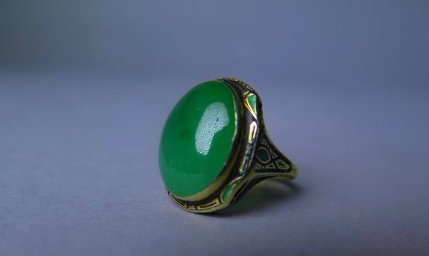 A Natural Untreated Jadeite Ring