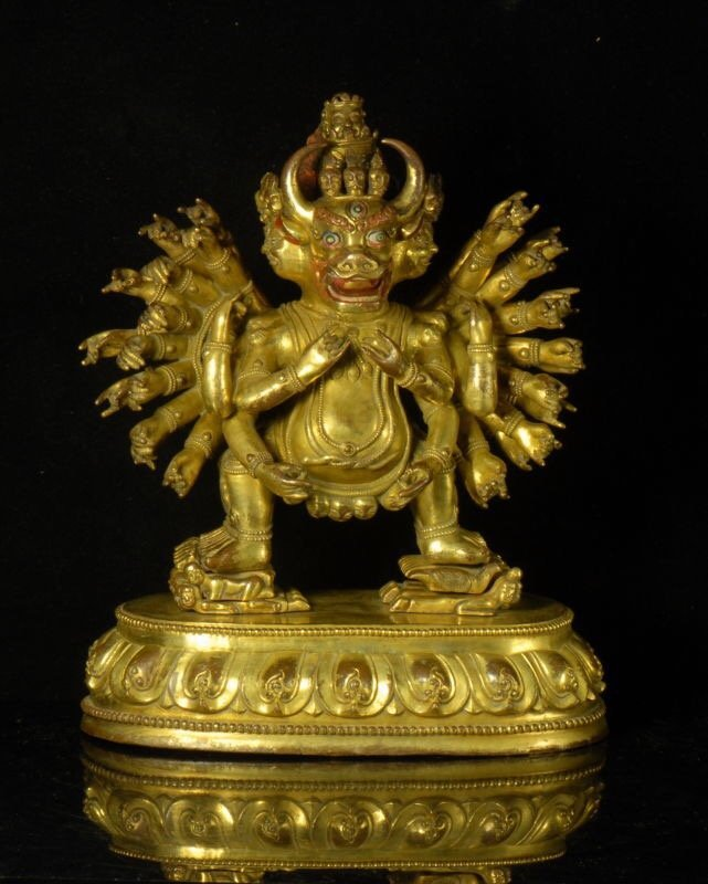 Gilt-Bronze Figure of Vajrabhairava Yamantaka.