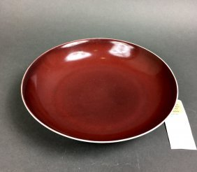 18th C Chinese Copper-red-glazed Saucer Dish,christie's