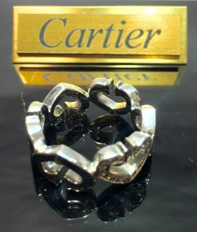 Vintage Cartier 18k Gold Ring With Diamonds
