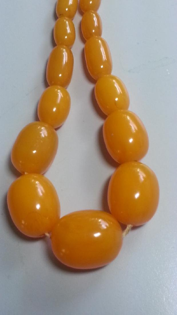 BUTTERSCOTCH AMBER NECKLACE - 2