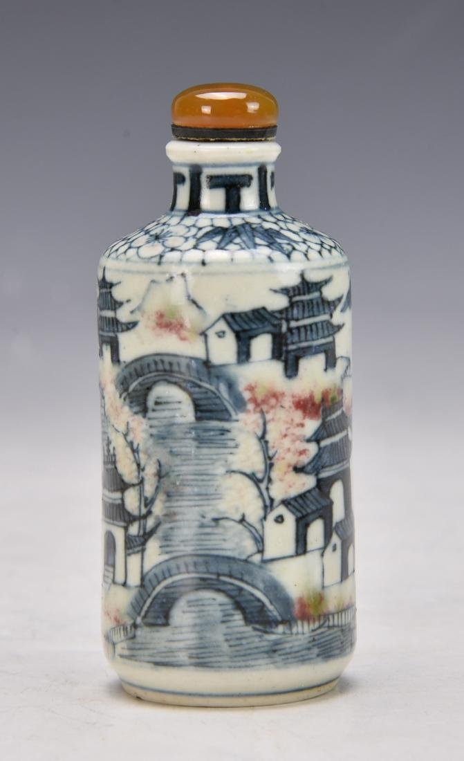 Chinese Blue and white Snuff Bottle - 2