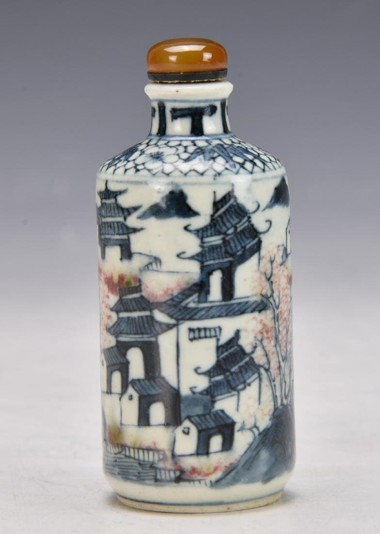 Chinese Blue and white Snuff Bottle - 3