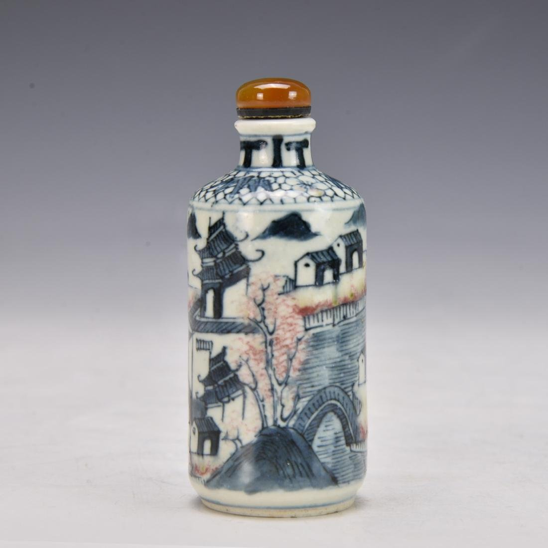 Chinese Blue and white Snuff Bottle - 4