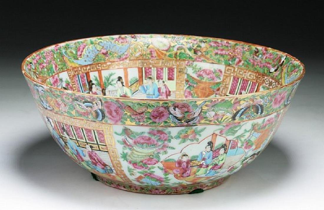 A Big Chinese Antique Qianlong Rose Medallion Porcelain - 2