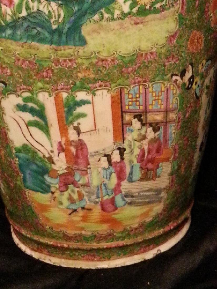 Antique Chinese Famille Rose Porcelain VASE - 6