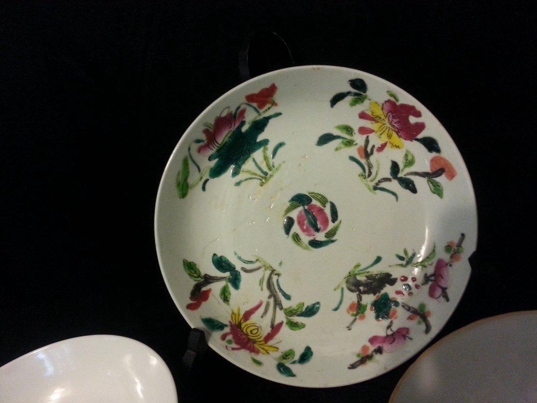 4 Antique Chinese Famille Rose Porcelain Bowl - 2