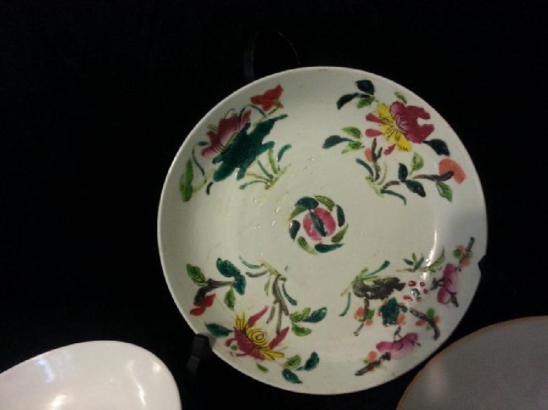 4 Antique Chinese Famille Rose Porcelain Bowl - 3