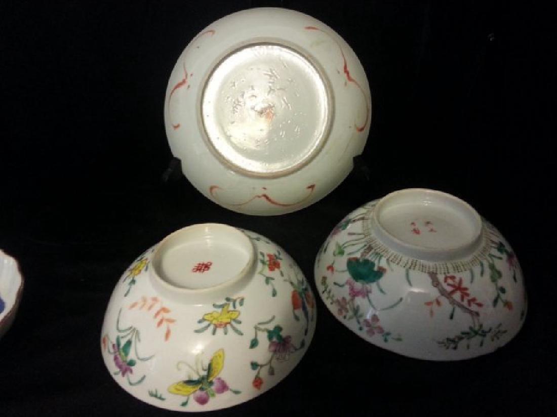 4 Antique Chinese Famille Rose Porcelain Bowl - 4
