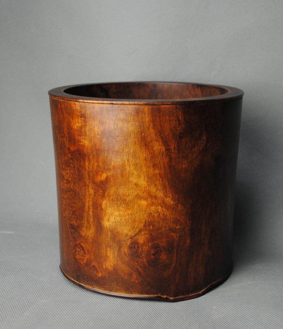 A Huang-hua-li Brush-pot from Qing Dynasty