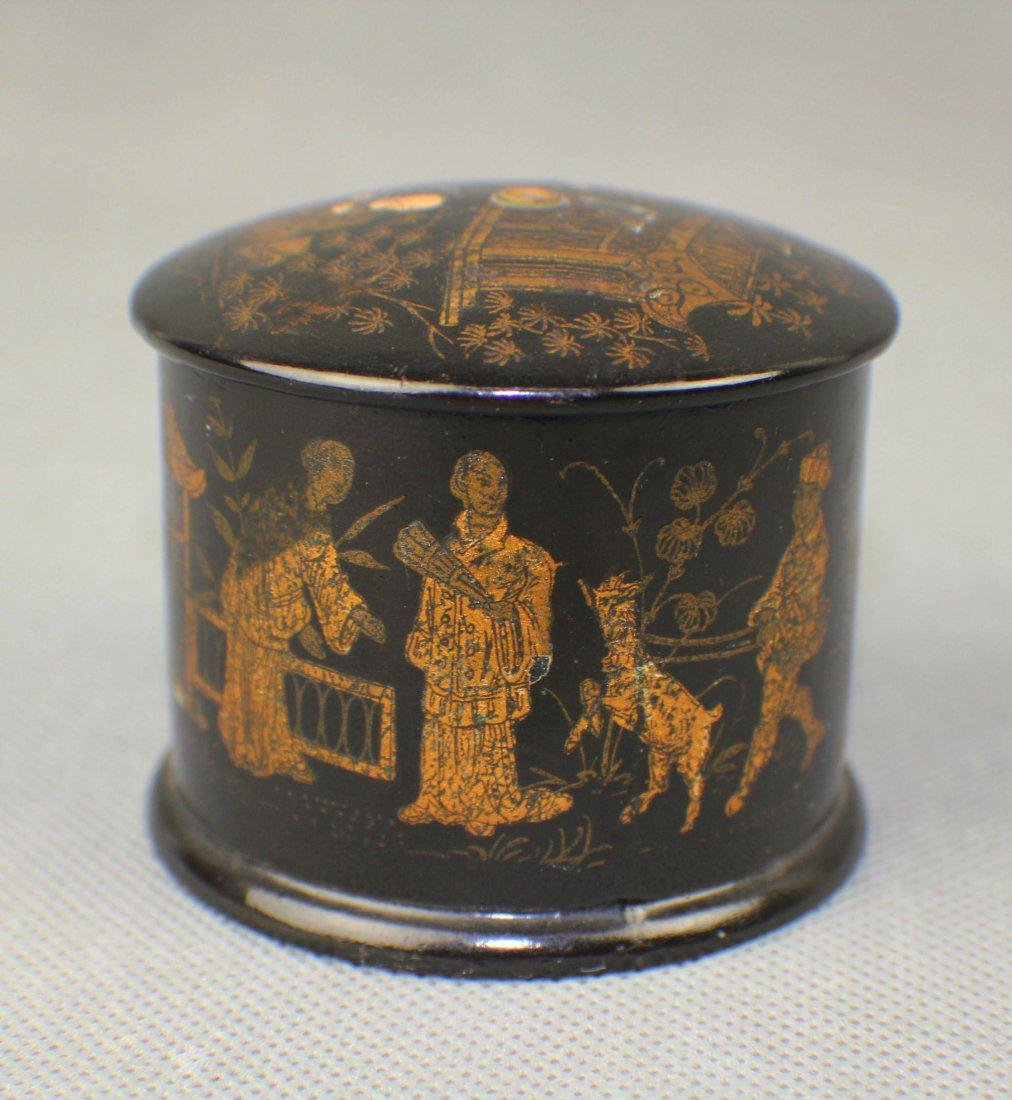 A Lacquered Box with Gild Figures from Qing Dynasty