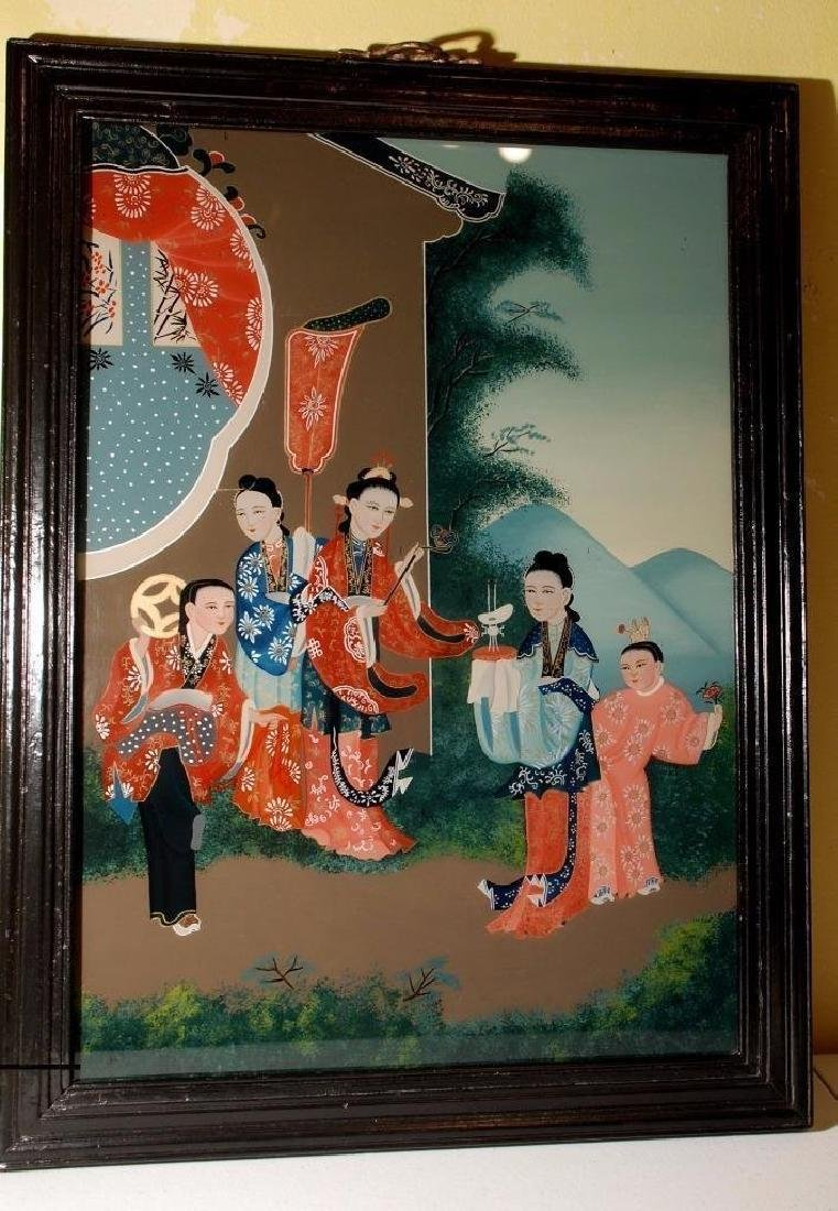 Early 19th Century Chinese Reverse Painting on Glass