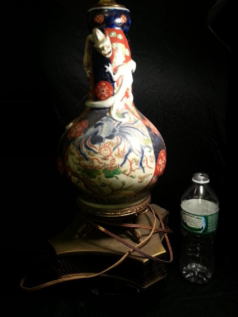 ANTIQUE CHINESE FAMILLE ROSE PORCELAIN lamp