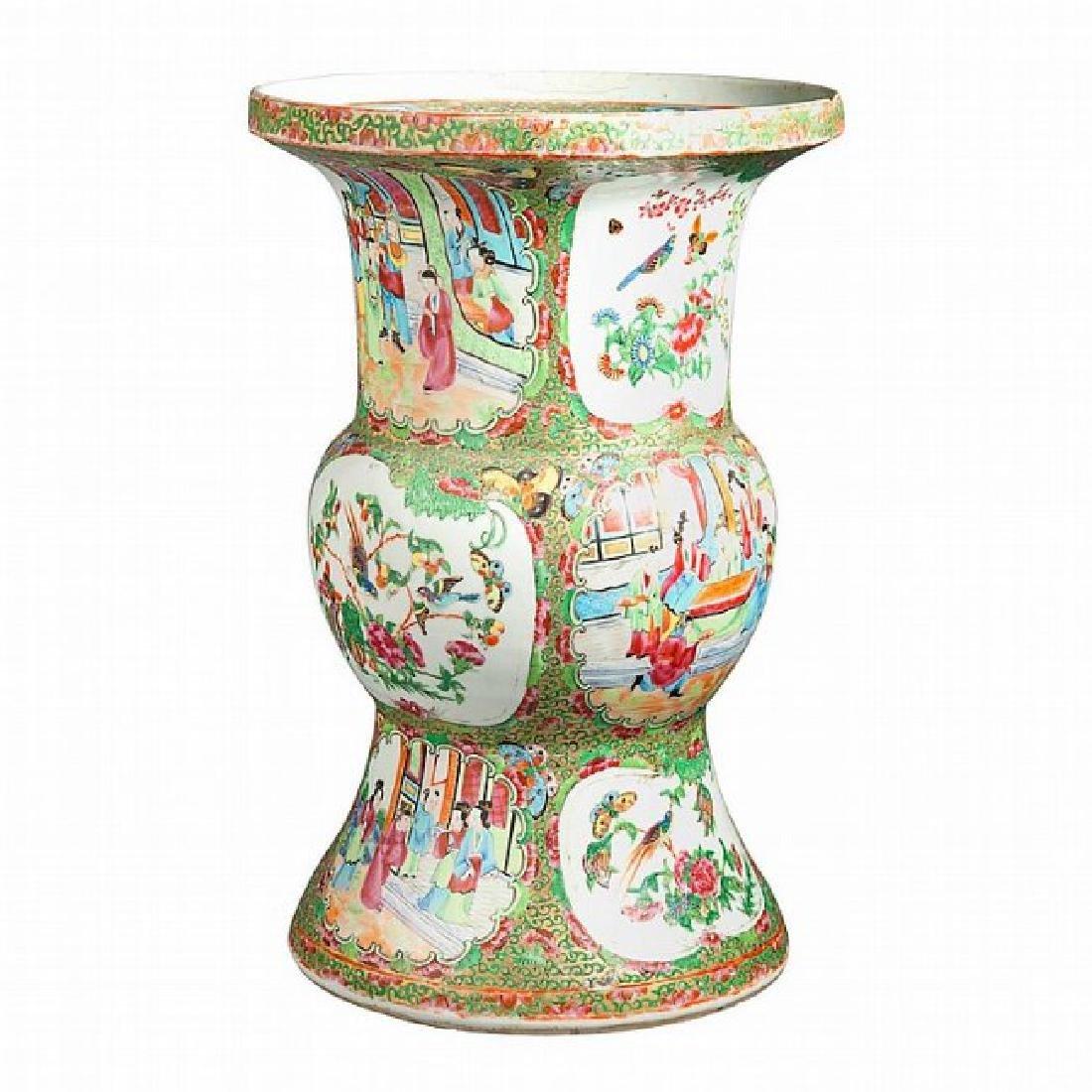 Chinese Rose Medallion Porcelain Vase