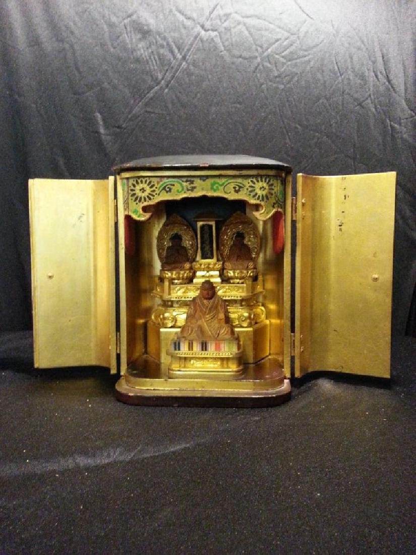 Antique Buddha Shrine Box