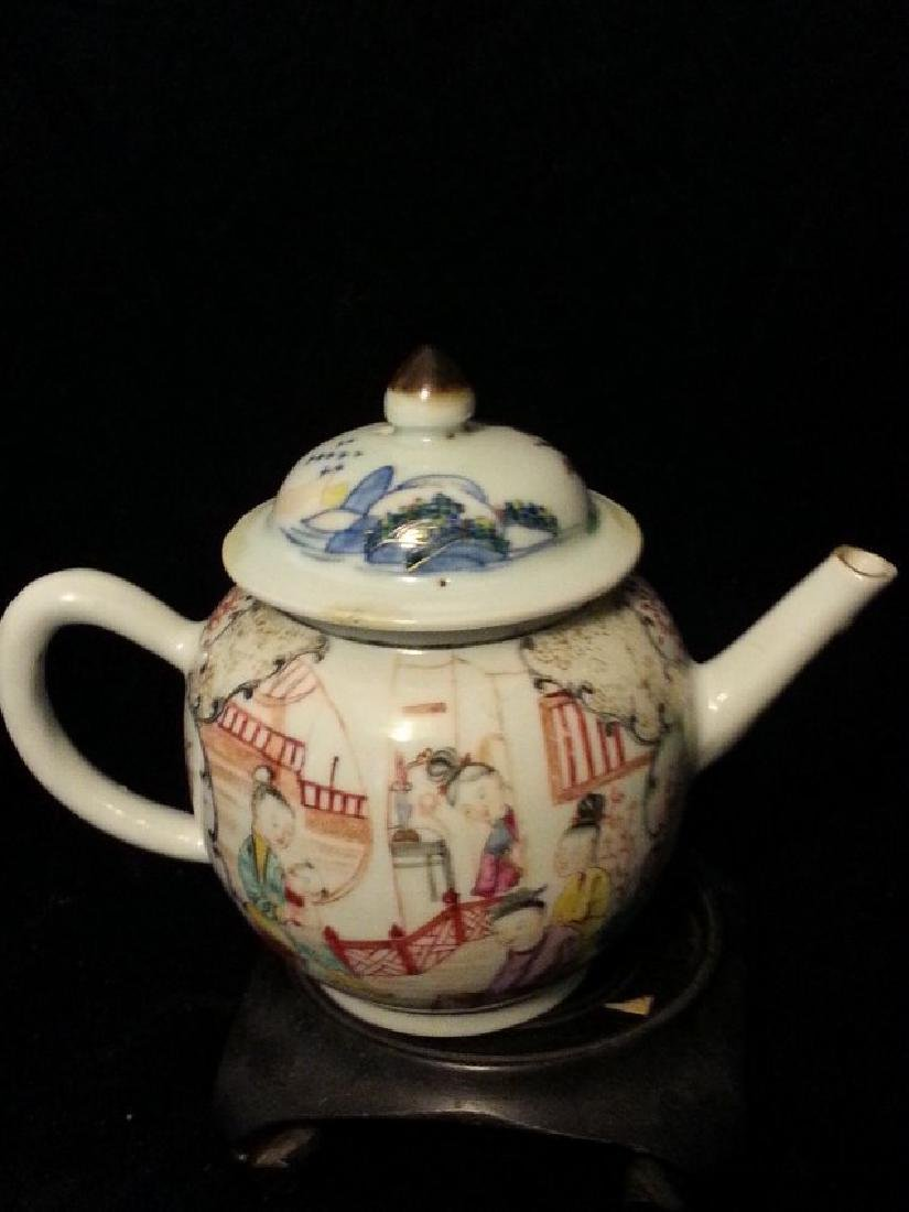 """ANTIQUE Chinese Famille Rose Teapot  early 18th"""