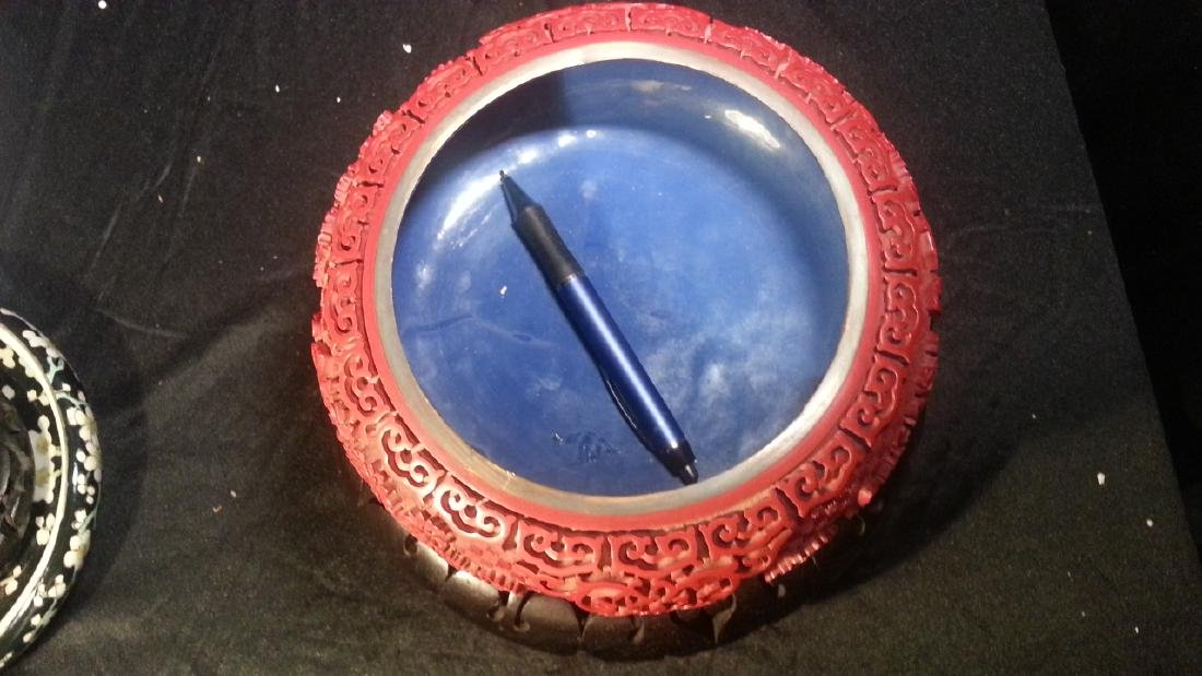 Chinese carved cinnabar lacquered - 5