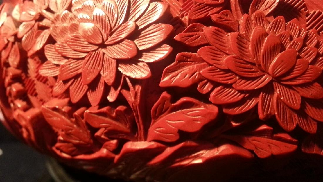 Chinese carved cinnabar lacquered - 6