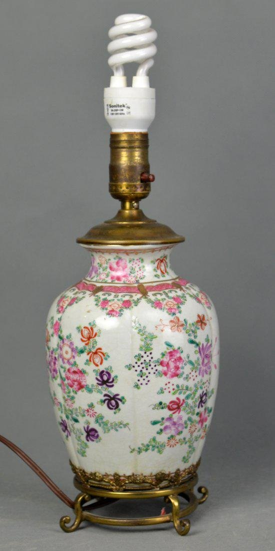 A Export Famille Rose Porcelain Vase for Lamp-stand,