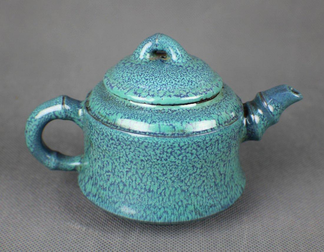 A Robinson Glazed Yi Xing Teapot, marke Wu Xiao Rong