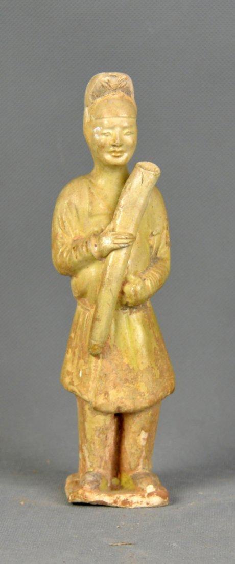 A Green Glaze Figure of Ming Dynasty